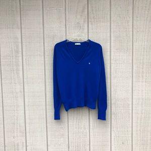 Christian Dior ultramarine blue v neck sweater, M